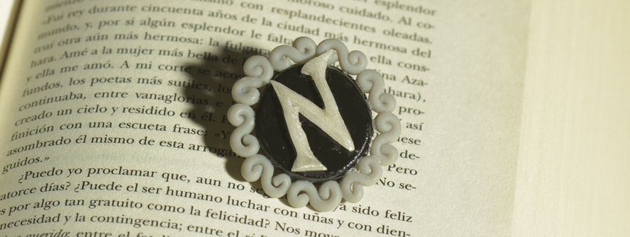 Your Letter in a brooch