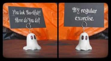 Place card holder Ghosts!