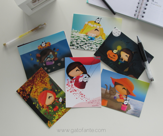 Beautiful Gatofante Postcards!